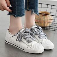 【支持礼品卡支付】小白鞋女夏季2018新款韩版韩版白色女鞋百搭透气学生布鞋 BE-8126