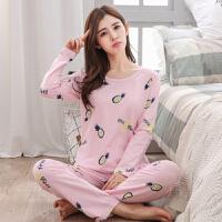 秋季长袖睡衣女士卡通可爱家居服套装韩版莫代尔薄款休闲两件套女