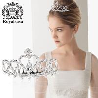 皇家莎莎新娘头饰公主盘发梳仿水晶皇冠发饰新娘皇冠饰品 刘海插梳