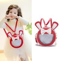 韩版儿童单肩包包 公主时尚斜跨包 笑脸蝴蝶结幼儿园双肩包 双用