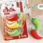 韩版创意儿童学生 橡皮擦 可爱 彩色造型 橡皮卡通橡皮擦儿童礼物小辣椒橡皮一卡3个