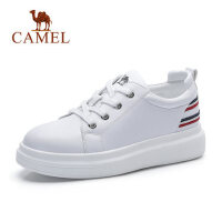camel骆驼厚底增高小白鞋女春秋新款平底运动鞋学生休闲鞋跑步鞋子