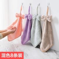 珊瑚绒挂式擦手巾清洁布加厚抹布洗碗巾厨房吸水毛巾不掉毛洗碗布