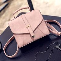 女包手提包小包包日韩版简约小方包女士单肩包斜挎包 粉红色