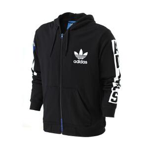Adidas阿迪达斯 2017新款男子三叶草运动休闲连帽夹克外套 BQ0888