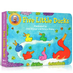 【发顺丰】英文原版童谣绘本 Five Little Ducks 五只小鸭子 3-6岁低幼儿童图画早教故事纸板书 送音频