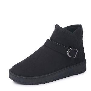 WARORWAR 2019新品YM135-883冬季欧美平底鞋舒适女鞋潮流时尚潮鞋百搭潮牌短靴雪地靴
