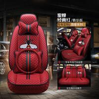 GUCCI古驰酷奇汽车坐垫亚麻四季通用全包围专用座套布艺女士冬季