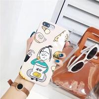 X手机壳可爱吃货苹果7/8plus光面软壳卡通6/6s全包潮女款i8 iphoneX 可爱吃货