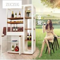 ZUCZUG简约现代玄关隔断柜北欧酒柜酒架间厅柜隔断玄关柜双面屏风储物柜 单个酒柜2M