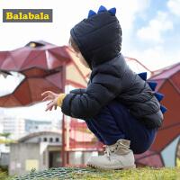 巴拉巴拉羽绒服男童秋冬新款儿童童装宝宝外套鸭绒连帽上衣潮