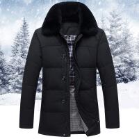 羽绒服男中长款加厚冬季中老年款反季休闲中年人新款爸爸冬装外套