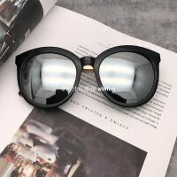 唐嫣范冰冰同款水银反光墨镜杨幂街拍太阳镜圆框金属腿复古女眼镜