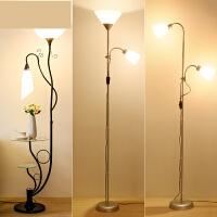简约现代落地灯遥控调光LED卧室床头书房客厅立式台灯置物茶几灯n7w