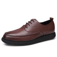 camel骆驼男鞋 秋新款商务休闲皮鞋子系带正装皮鞋办公室德比鞋子