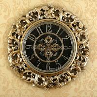 挂钟客厅静音钟表欧美式现代石英钟简约大号立体墙壁欧式挂钟