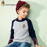 【秒杀价:79元】暇步士童装春季新款男童时尚针织衫套头毛衣线衣儿童针织衫
