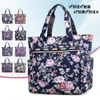 韩版春季新款牛津布包大容量单肩手提大包休闲单肩妈妈尼龙女包