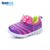 百丽天美意teenmix童鞋18新款儿童运动鞋莱卡布四季款毛毛虫休闲鞋女童户外鞋 (5-10岁可选) DX0289
