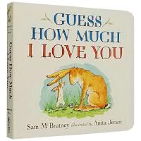 Guess How Much I Love You 英文原版 猜猜我有多爱你 绘本纸板书 廖彩杏 吴敏兰书单
