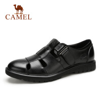 camel 骆驼男鞋夏季新品时尚商务休闲凉鞋舒适透气牛皮凉鞋男