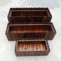 0726154038037防腐木花箱碳化实木花盆长方形阳台种菜盆景特大种植箱花槽桶户外