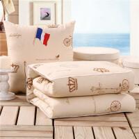 汽车抱枕被子两用靠垫被沙发办公室折叠午睡靠枕空调被大号枕头被 乳白色 卡西罗