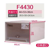 整理箱收纳箱装衣服透明衣柜储物箱塑料抽屉式收纳盒 Made in japan