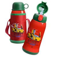 儿童保温杯不锈钢宝宝幼儿园男女水杯壶带吸管两用316