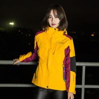 AIRTEX/亚特冲锋衣女三合一两件套韩版保暖防风防水服新款户外女款