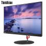 联想显示器ThinkVision X24q液晶显示器 23.8英寸QHD 2K分辨率纤薄窄边IPS硬屏广视角 全高清金属支架显示器,99%sRGB色域