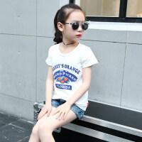 女童T恤短袖夏2018新款潮装半袖上衣童装中大儿童女体恤夏装韩版