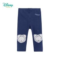 迪士尼Disney童装 女童保暖长裤春季新款宝宝可开裆打底裤蕾丝花边裤子