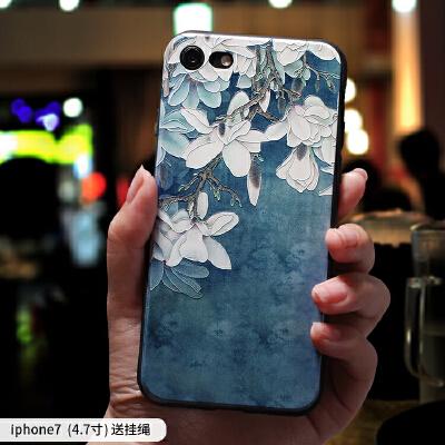 苹果7plus手机壳女款iphone6创意软硅胶6splus全包防摔8plus潮牌新款8x挂绳保护套