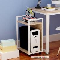 简约可移动台式电脑主机柜搁板带滑轮机箱托架打印机架放主机收纳