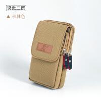 男士腰包5.5寸穿皮带手机包多功能迷你小挂包户外休闲包帆布包