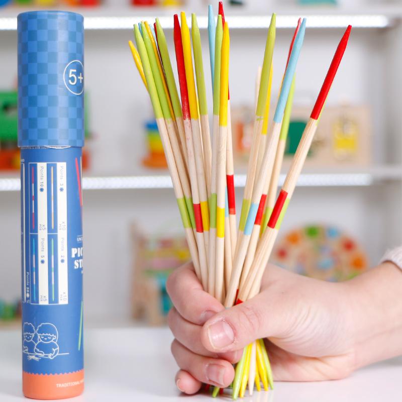 儿童桌面游戏亲子互动玩具90后怀旧童年游戏棒挑棒挑棍彩色 趣味游戏棒