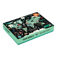 Map of the World 1000 Piece Family Puzzle 英文原版 1000块拼图:世界地图