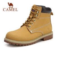 camel骆驼时尚工装靴大头鞋秋季新款女式平底马丁靴英伦风防滑短靴