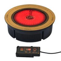 火锅店线控圆形嵌入式火锅电陶炉光波炉电磁炉 面板直径28.8厘米 功率2000瓦
