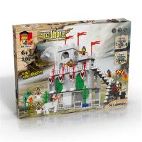 万格正品兼容拼装拼插启蒙益智儿童积木玩具国王城堡49032N