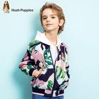 【3件3折券后预估到手价:112元】暇步士童装春季新款男童外套时尚迷彩夹克儿童棒球服外套