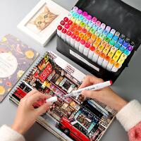 马克笔套装touch正品初学者动漫学生用手绘设计双头酒精油性彩笔美术生专用30/40/60/80/168色装全套