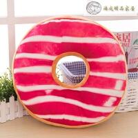 创意甜甜圈抱枕靠垫单孔坐垫椅垫床上用品毛绒玩具 40cm