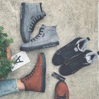 【下单立减120元】乌龟先森 男士棉鞋 冬季棉鞋男士高帮鞋韩版加绒棉靴时尚休闲短靴子男鞋