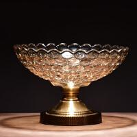 水晶玻璃果盘实用欧式摆件家居客厅家用果篮新年果盒糖盒软装饰品
