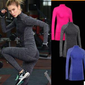 秋冬季显瘦运动长袖 健身紧身衣跑步训练T恤高弹速干瑜伽外套WA25