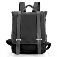 双肩包男韩版尼龙布包学生旅行书包旅游背包男士背包潮包ju 黑色