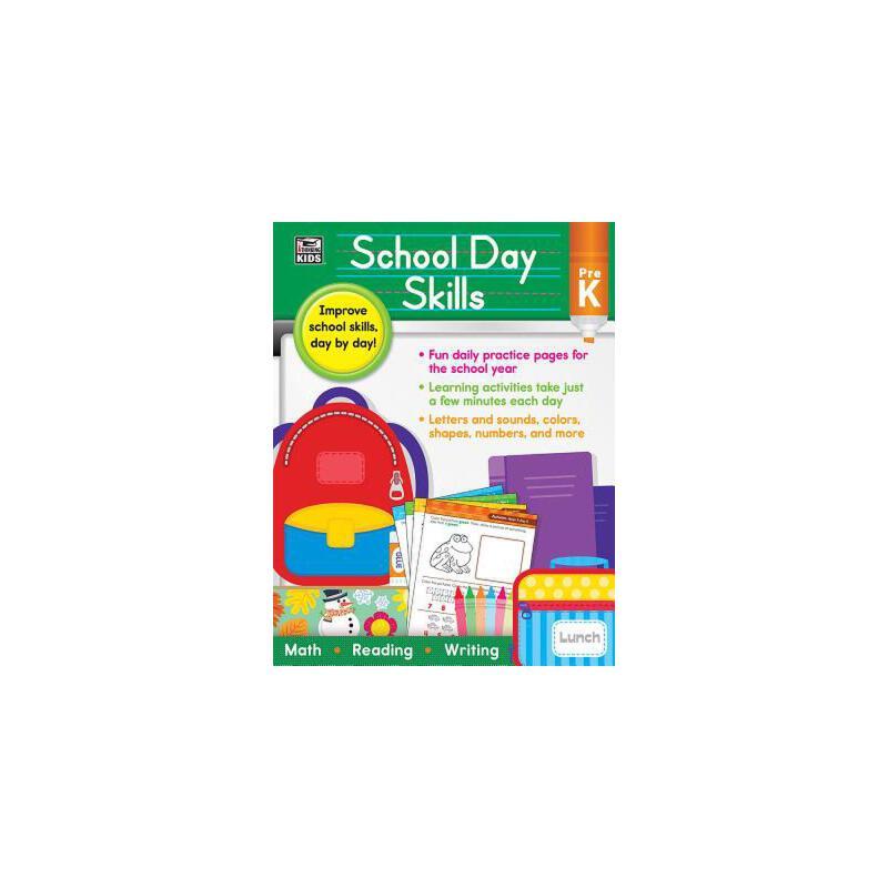 【预订】School Day Skills, Grade Pre-K 预订商品,需要1-3个月发货,非质量问题不接受退换货。