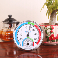 家用温度计湿度计工业室内温湿度表精准大棚支架壁挂式婴儿高精度 白色 科101